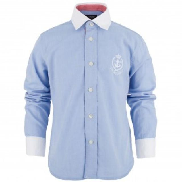 blaues hemd mit wei em kragen und manschetten 1212379 weddbook. Black Bedroom Furniture Sets. Home Design Ideas