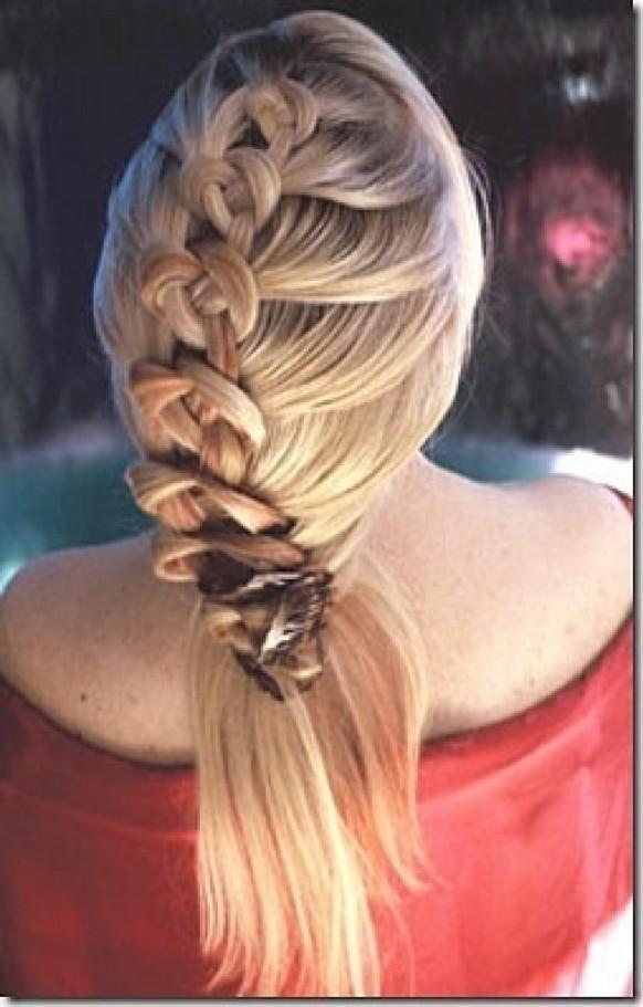 Плетение косы с плоскими зернами