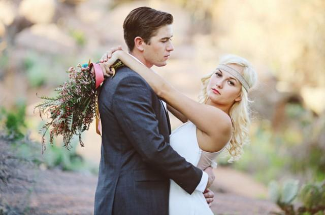 wedding photo - Mid-Century Desert Wedding Inspiration