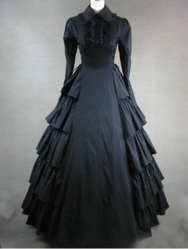 gothic wedding black classic gothic victorian dress