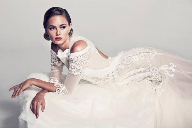 Pallas couture fleur blanche spring summer 2014 bridal for American haute couture designers