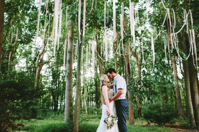 Intimate Rustic Backyard Wedding: Rustic Chic Backyard Wedding: Michelle + Jimmy