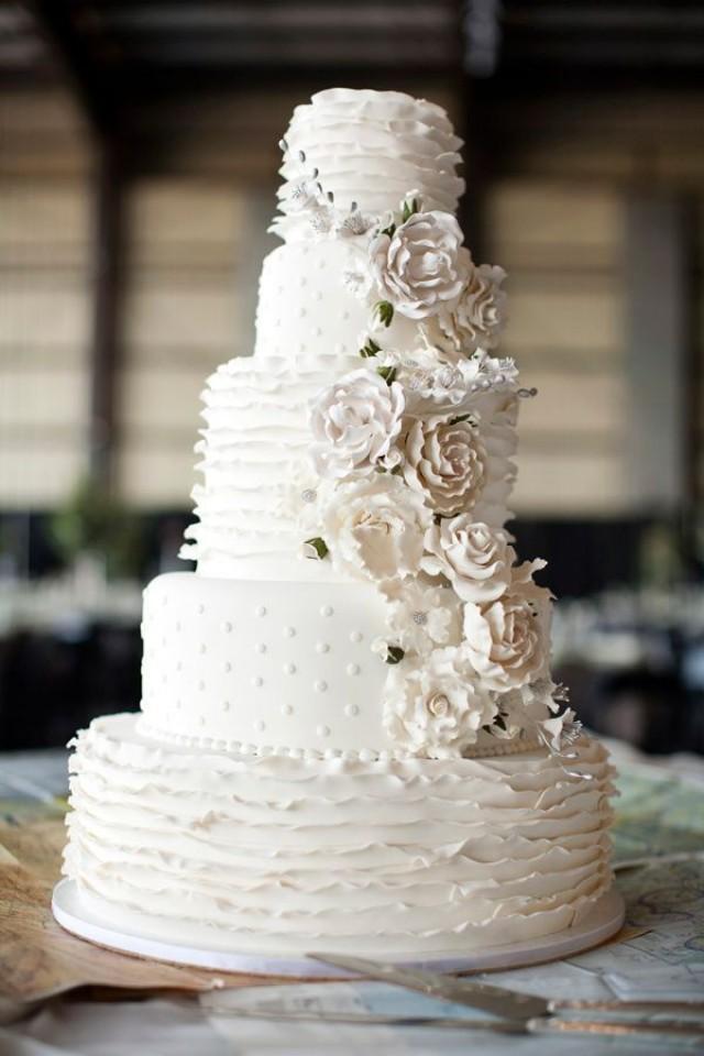Trendsetting Ruffled Wedding Cakes You Must See Weddbook