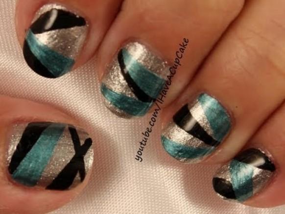 One Line Nail Art : Wedding nail designs easy lines art weddbook