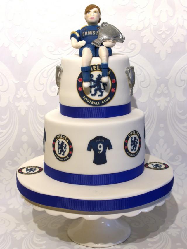 Wedding Cakes Chelsea Football Cake 1930535 Weddbook