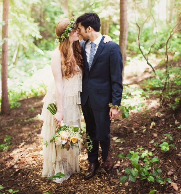 Bohemian Woodland Wedding Kimmy Garrett Weddbook