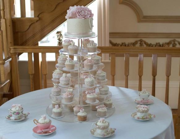 Wedding Cupcakes - Vintage Teaparty Cupcake Tower #1956465 - Weddbook