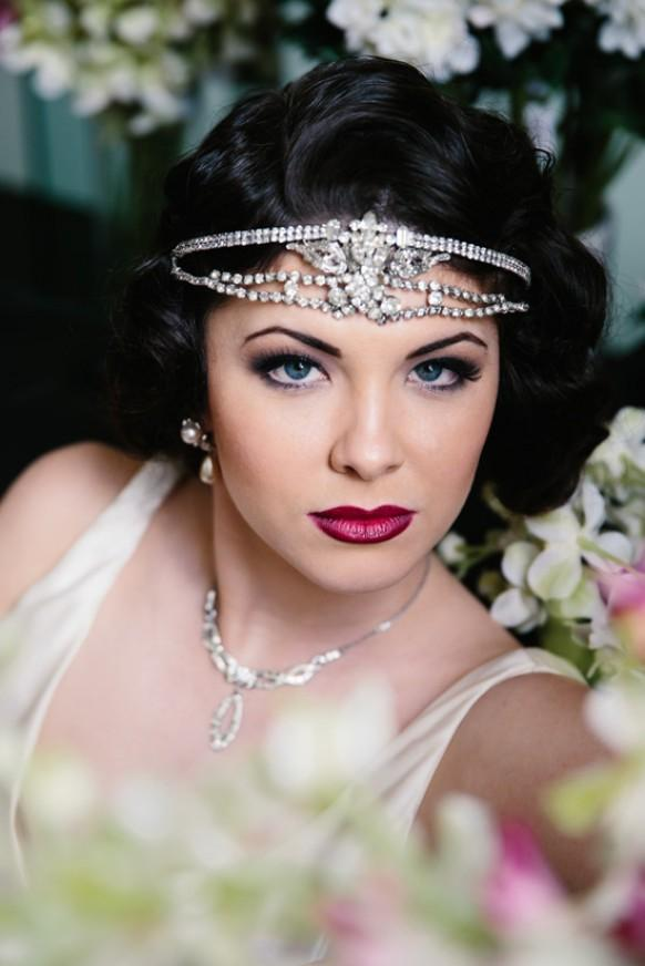 Pics Photos - Great Gatsby Inspired Bridal Makeup