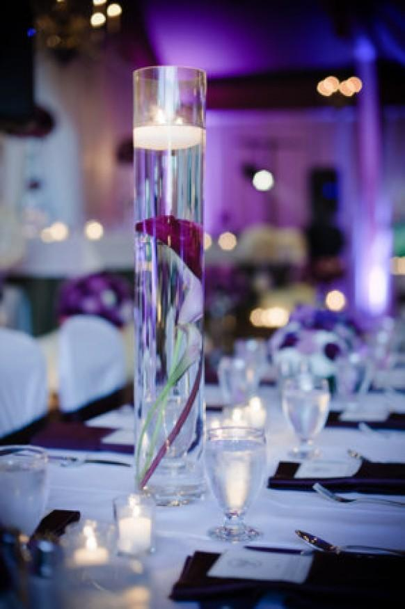 Purple Wedding Centerpieces Decor Ideas Weddbook
