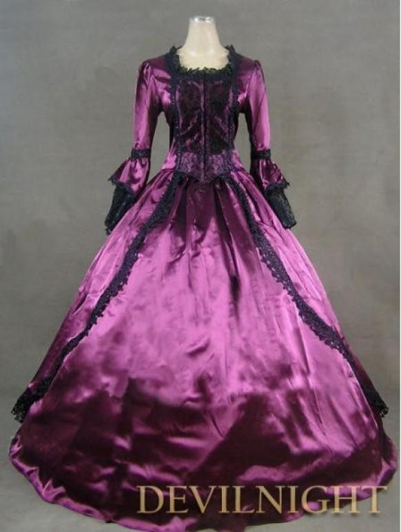 wedding photo - Purple Marie Antoinette Masked Ball Victorian Costume Dress