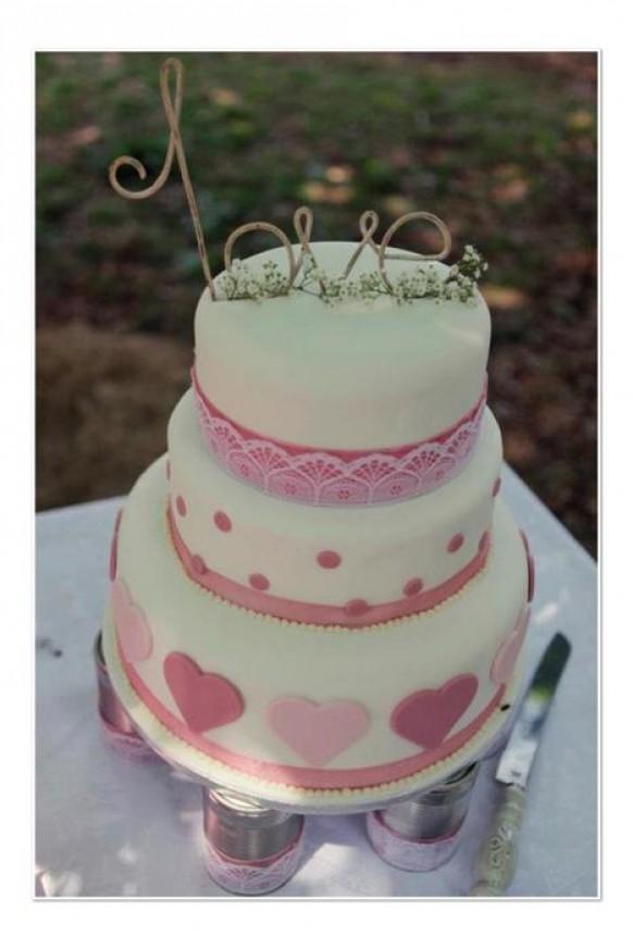 wedding photo - Romantic Wedding Cake