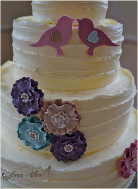 wedding photo - Spring Garden Wedding Cake