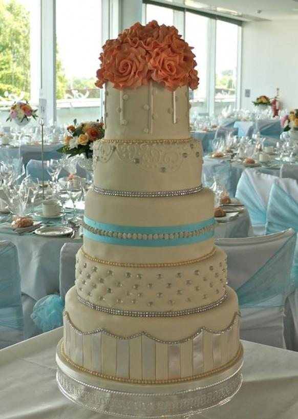 wedding photo - 5 Tier Wedding Cake