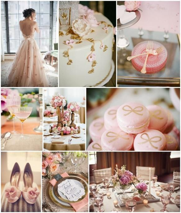 Pink Wedding Decoration Ideas: Vintage Pink And Gold Wedding Ideas