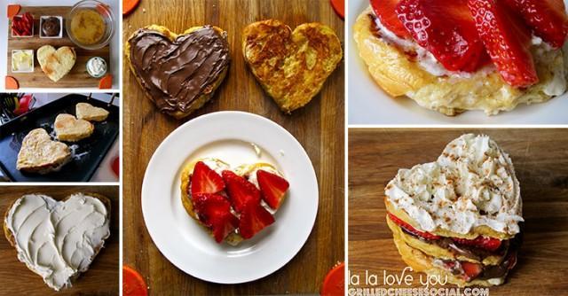 Sweet Grilled Cheese Heart - Weddbook
