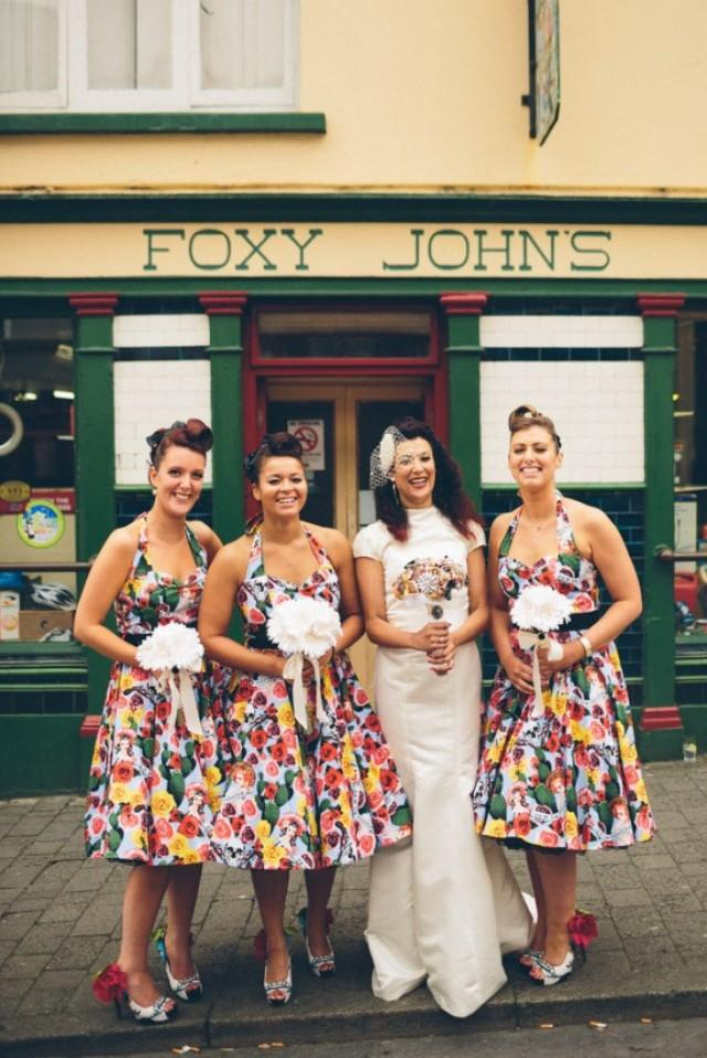 Bright Quirky And Vintage Inspired Irish Wedding Rowena Cain Weddbook