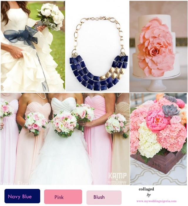 Navy blue and light pink wedding the for Wedding pink and blue