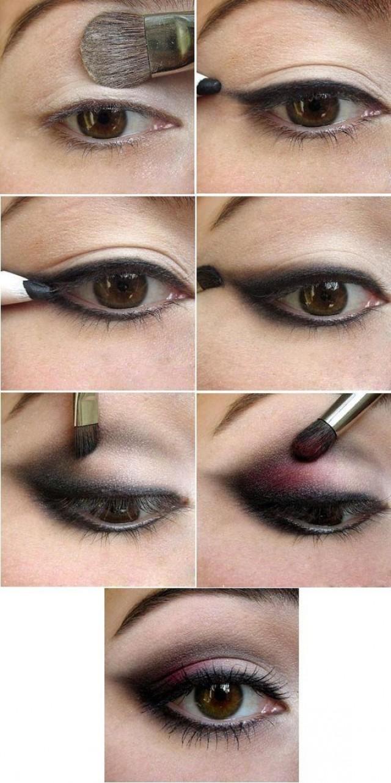 Макияж для брюнеток с карими глазами поэтапно фото