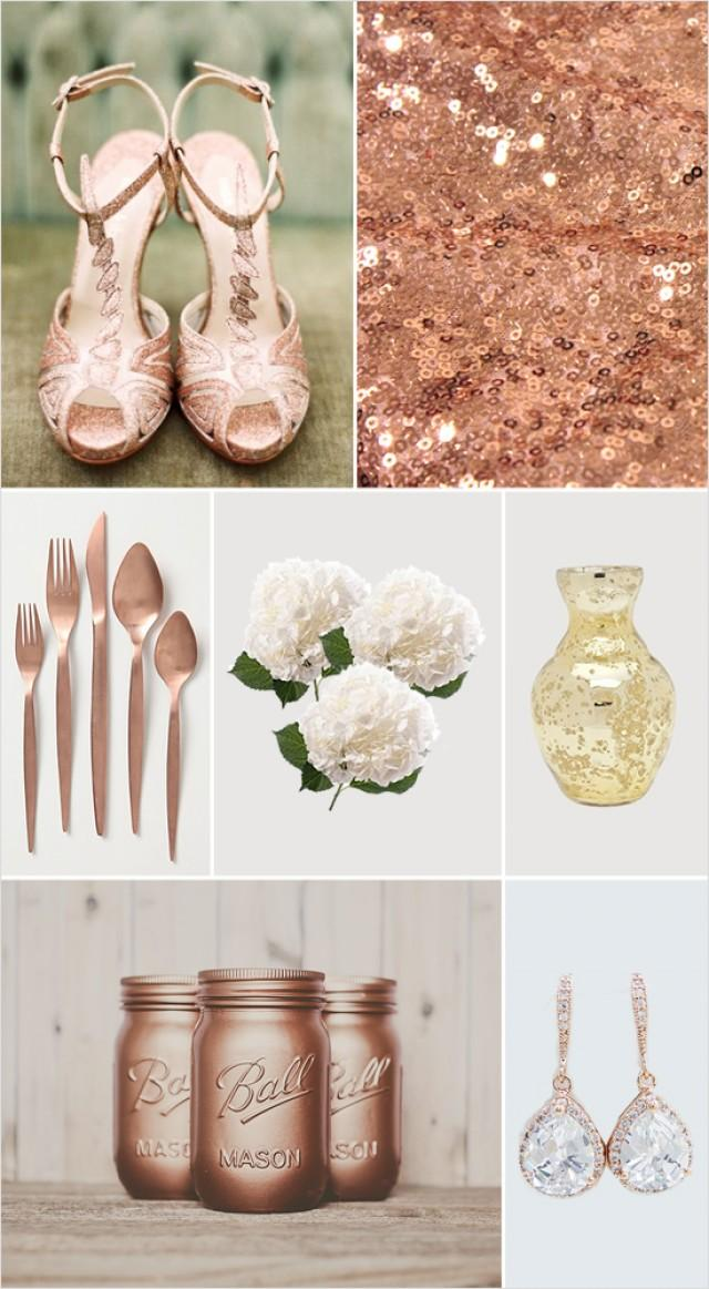 Glamorous rose gold wedding ideas weddbook for Rosegold dekoration