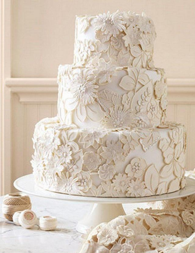 Vintage Wedding Vintage Lace Wedding Cake Design 2028664 Weddbook