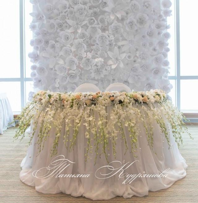 Wedding Head Table Flowers: Sweetheart Table #2028983