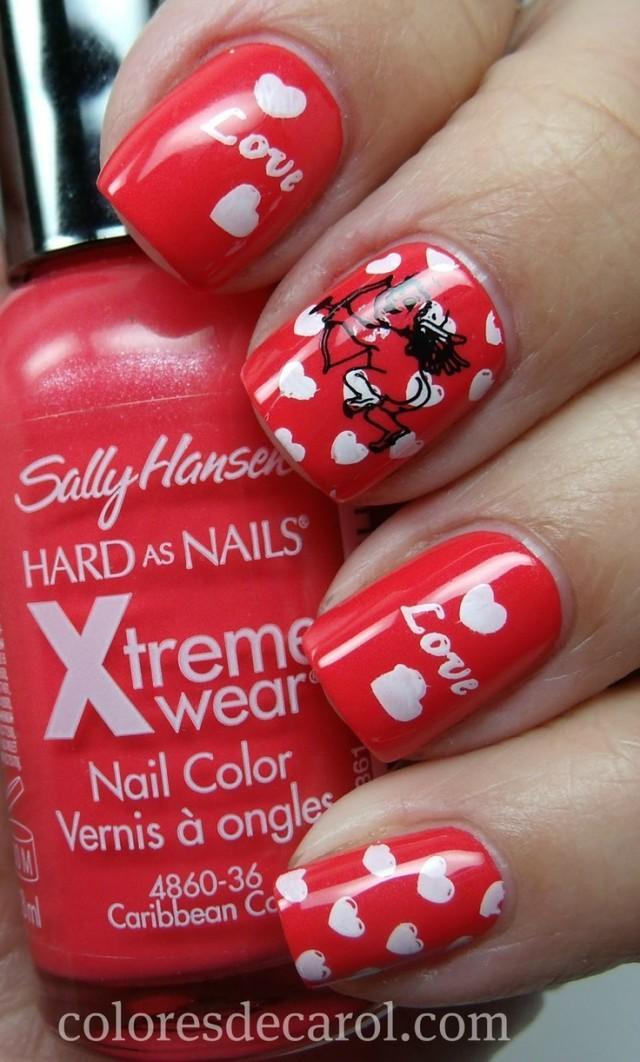 Best 25 Valentine day nails ideas on Pinterest  Pretty