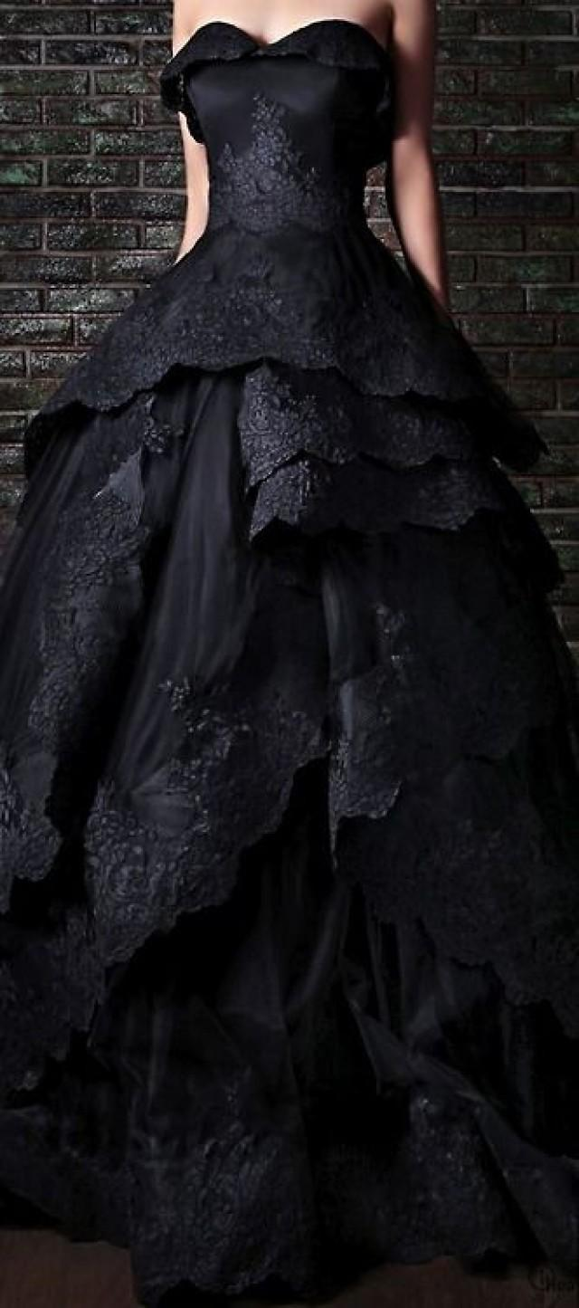 Gothic wedding stunning black wedding gown 2029334 for Black gothic wedding dress