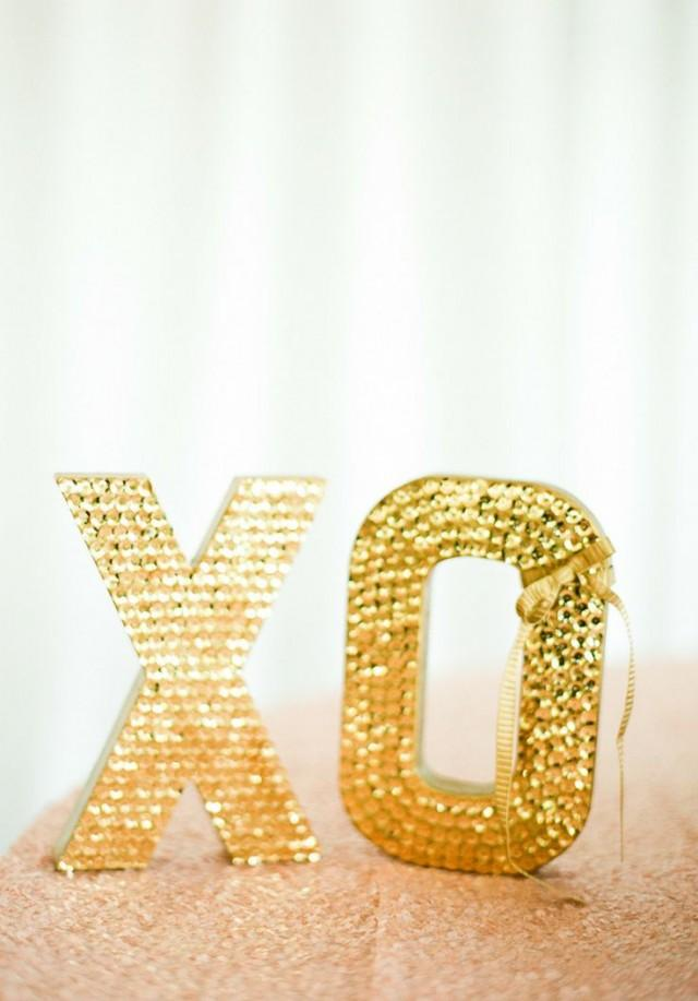 gold wedding large sequin letters smp 2029369 weddbook With large sequin letters