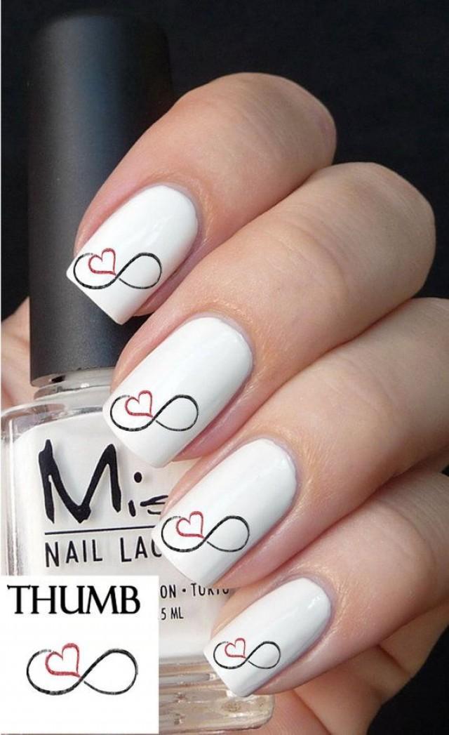 Nail design prices nail arts 50pc infinity love nail decals nail art nail prinsesfo Choice Image