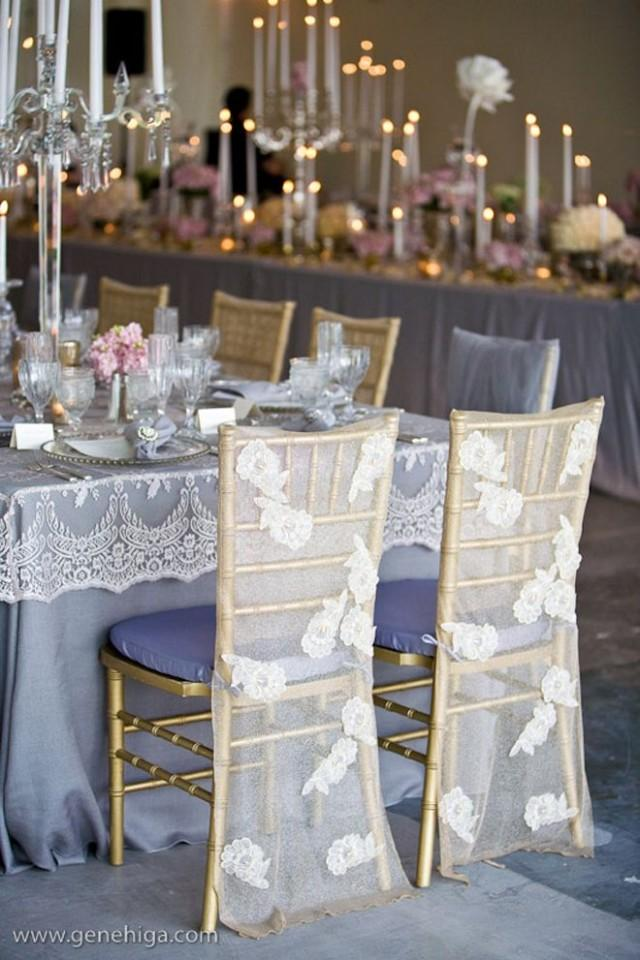 Tablescapes Lace Wedding Chair Decoration