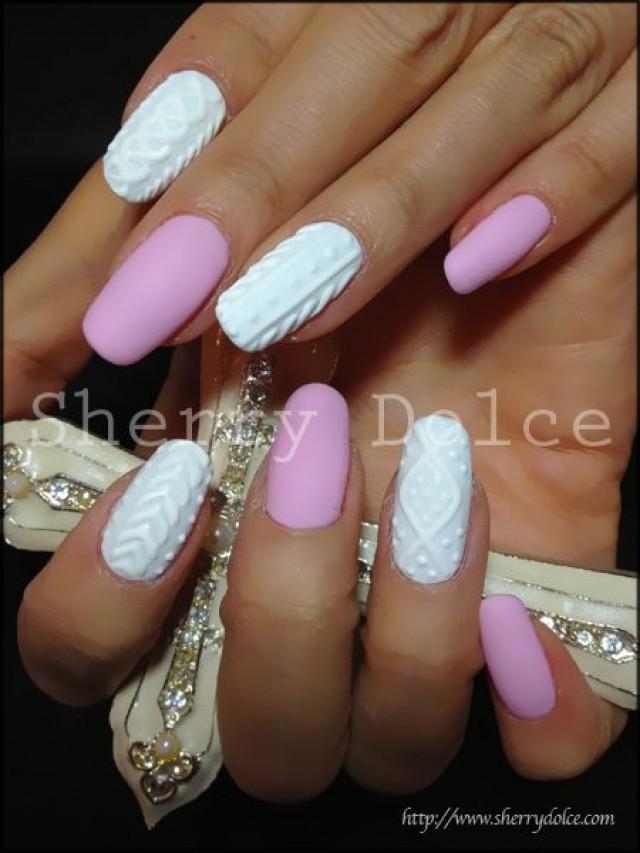 Вязанные ногти фото дизайн