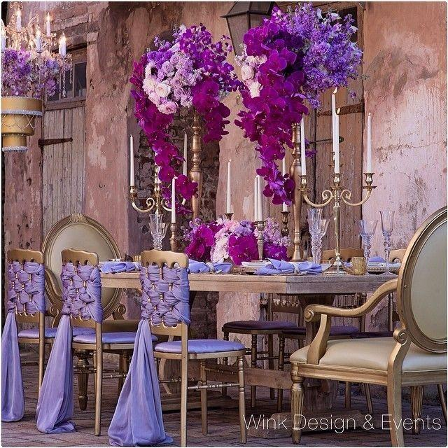 Radiant Orchid Home Decor: Radiant Orchid Tablescape #2031233
