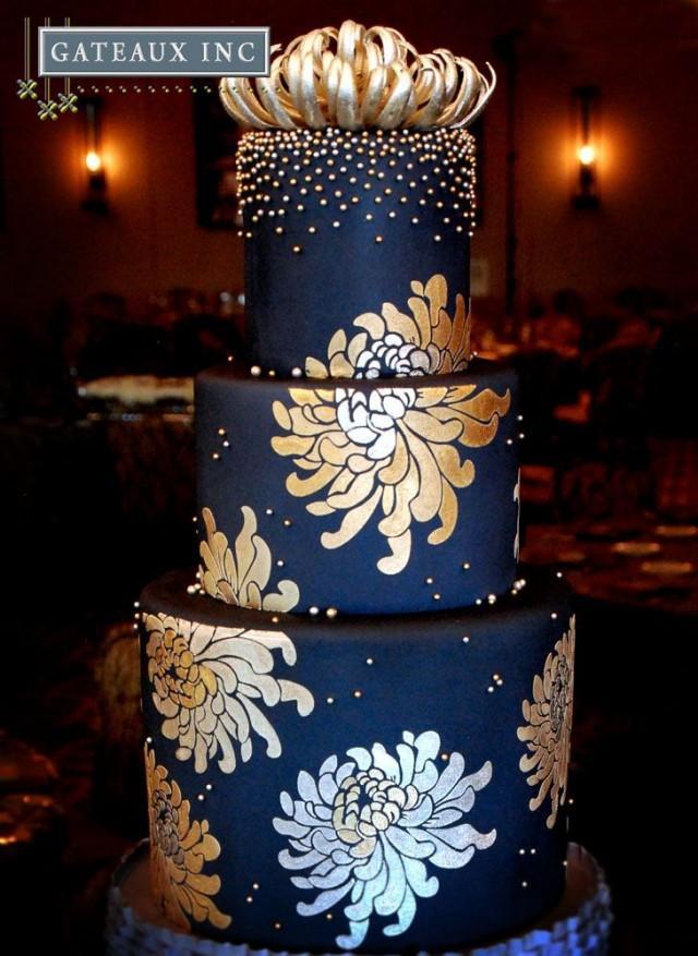 0 Interest Car Deals >> Navy And Gold Wedding Cake - Gateaux Inc #2035563 - Weddbook