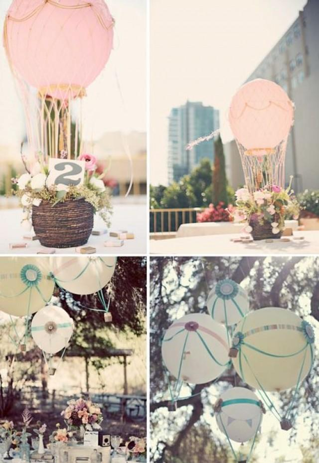 Wedding balloons hot air balloon wedding decor 2038418 for Balloon decoration ideas for weddings