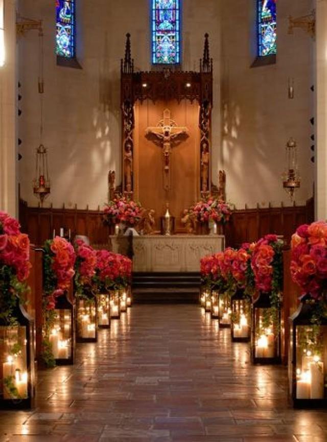 Wedding Ceremony Decorations Lanterns : Ceremony candles lighting the aisle weddbook