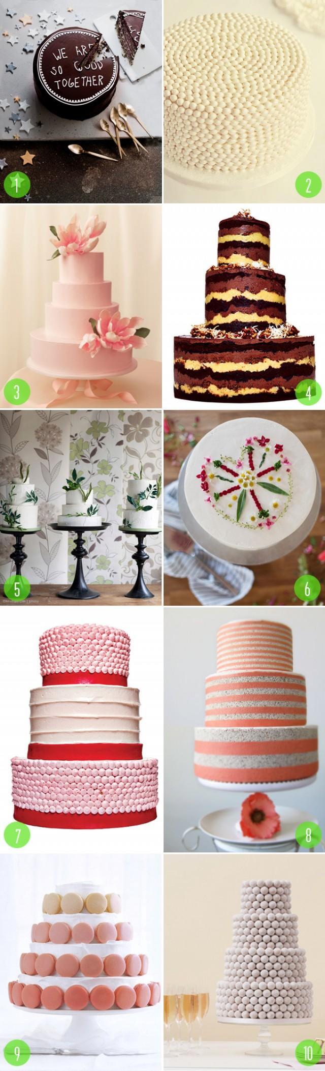 Top 10: Non-fondant Wedding Cakes - Weddbook