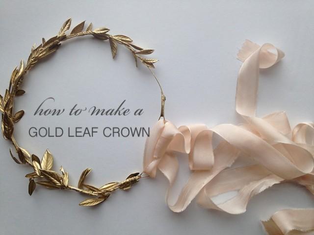 How To Make A Gold Leaf Crown Weddbook