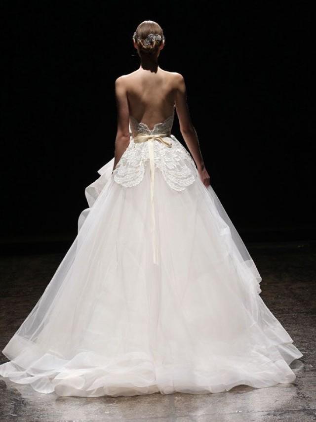 Spring wedding lazaro gown spring 2014 2042205 weddbook for Lazaro lace wedding dress