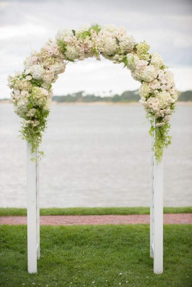Ceremony floral wedding arch 2042469 weddbook for Arch decoration for wedding