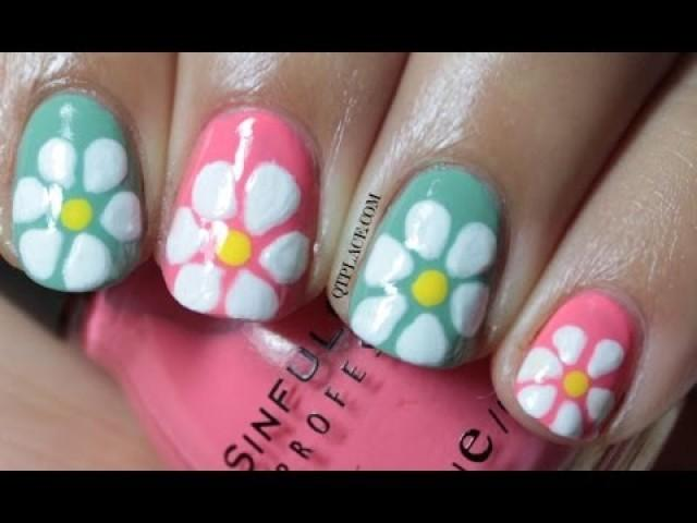Spring Wedding Nail Designs : Wedding nail designs spring flower art