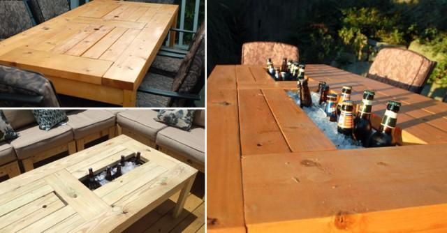 Table with built in beer cooler weddbook for Table with cooler in middle