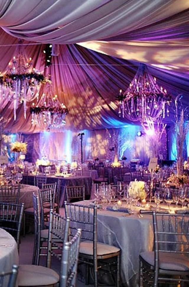 All Silver Winter Wedding. Made Dramatic With The Purple And Aqua ...