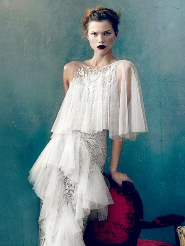 One Shoulder Strap Wedding Dress Inspiration 2046822 Weddbook