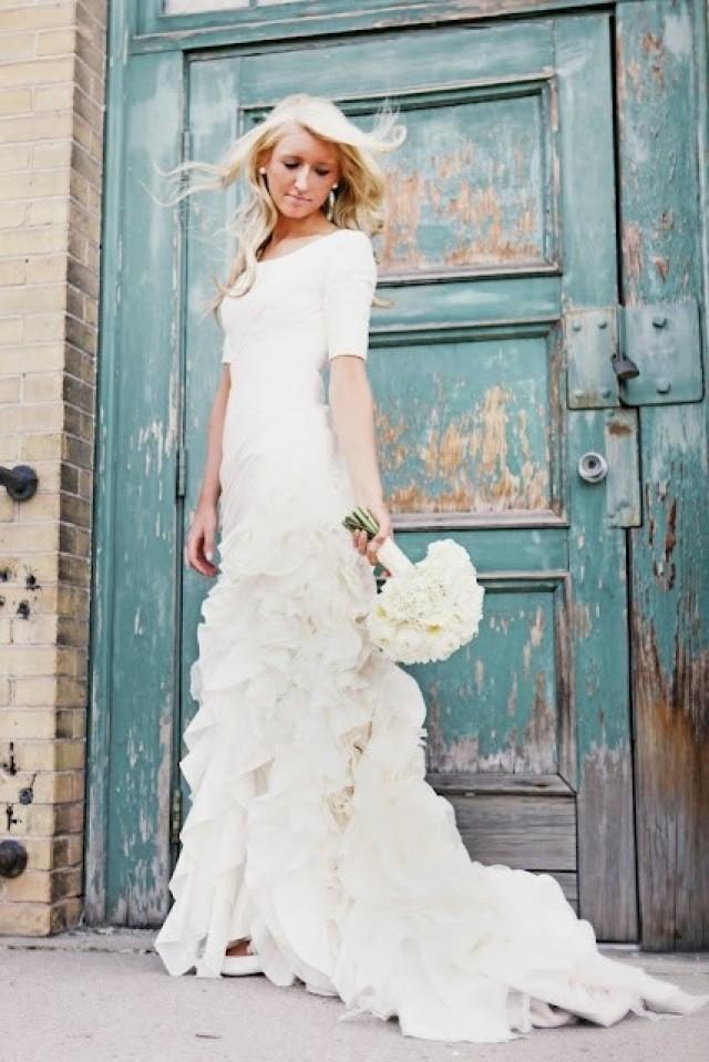 modest wedding dresses with 34 sleeves wwwimgarcadecom