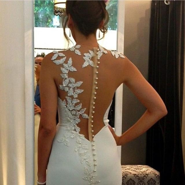Backless dresses backless wedding gowns 2046931 weddbook for Backless wedding dress bra