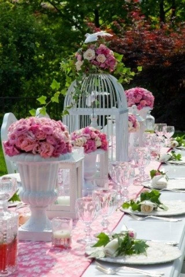 Centerpieces bird cage centerpiece 2047390 weddbook for Table jardin beauty