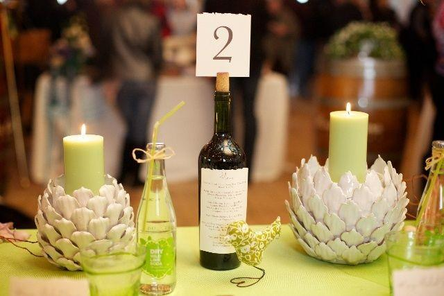 7 awesome diy wine bottle centerpiece ideas for your big for Homemade wine bottle centerpieces