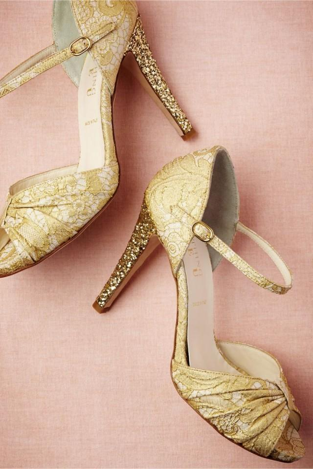 Gold Wedding - Glittery Gold Heels? Yes Please! 2047473 - Weddbook