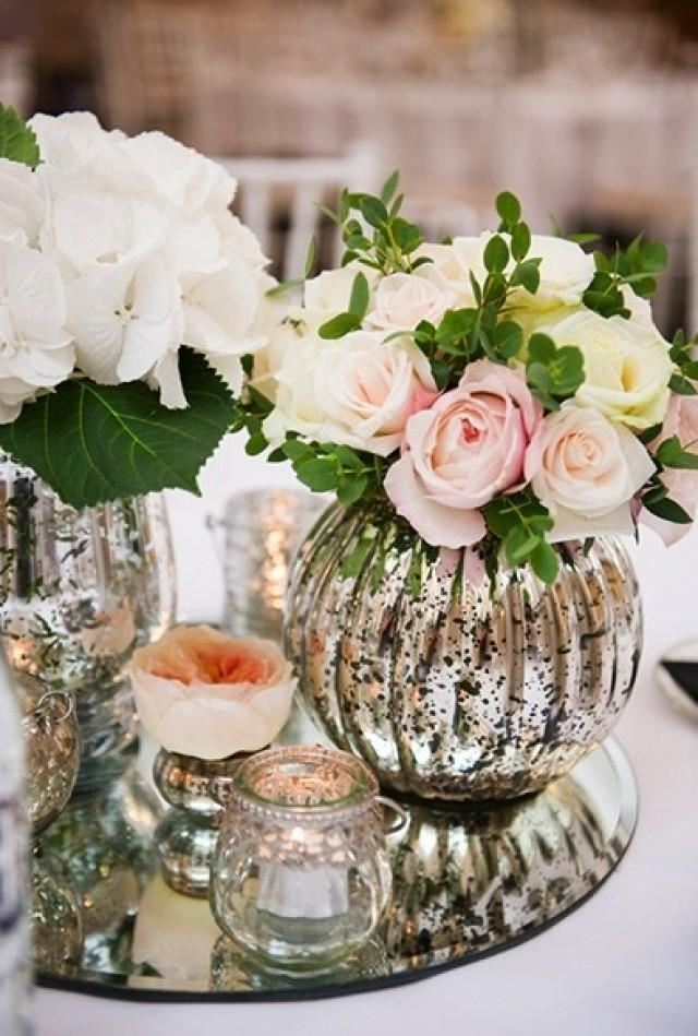 Centerpieces mercury glass weddbook