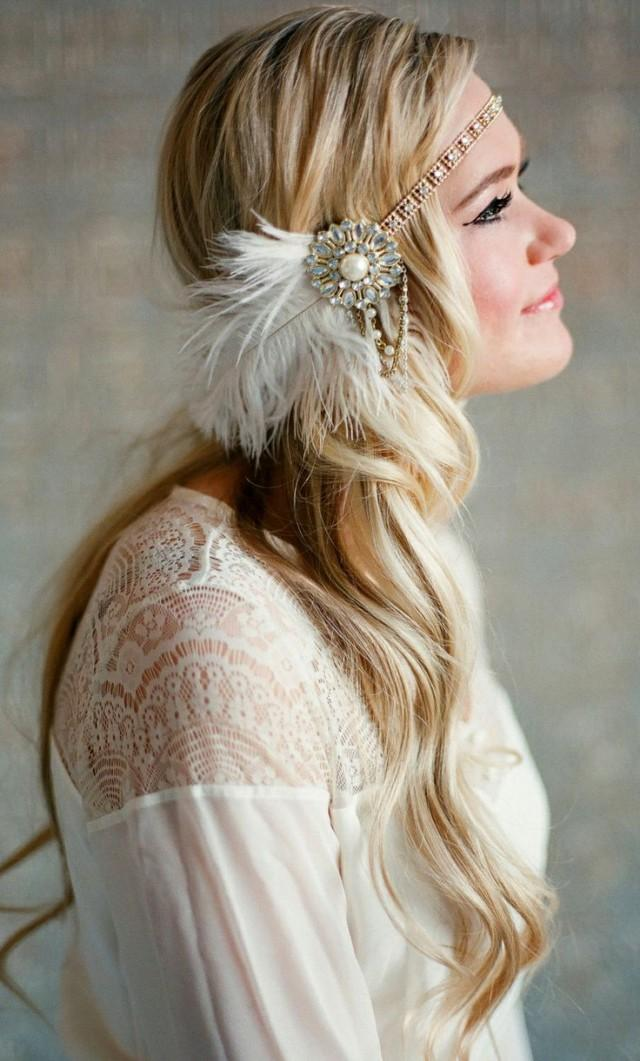 Flapper Headpiece Vintage Inspired Bridal Hairpiece The